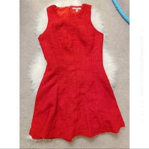 Red Banana Republic Fit Flare Woven Dress Size 8